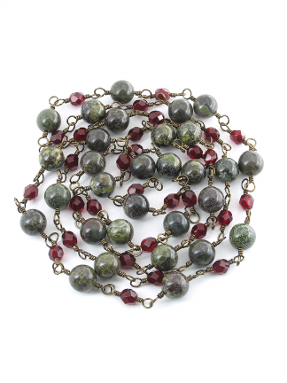 185A Dragon's Blood and Rubies Necklace
